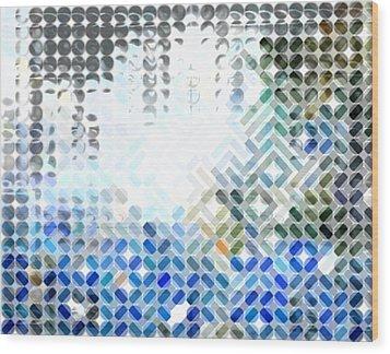 Spheremaze Wood Print by Mark Einhorn