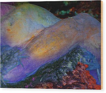 Wood Print featuring the digital art Spirit's Call by Richard Laeton