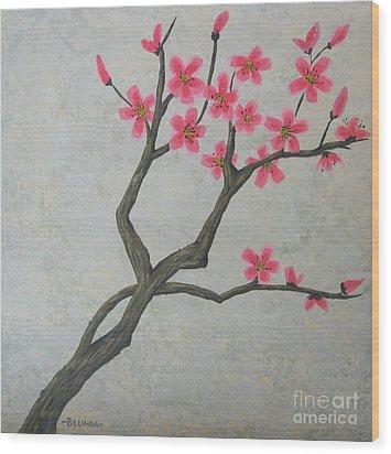 Spring Blossoms Wood Print by Billinda Brandli DeVillez