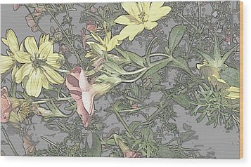 Spring Blossoms In Abstract Wood Print by Kim Galluzzo Wozniak