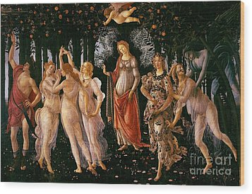 Spring Wood Print by Sandro Botticelli