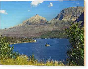 St. Mary's Lake 1 Wood Print by Marty Koch
