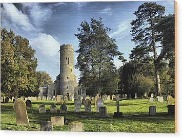 St Peters Church Forncett Norfolk England Wood Print by Darren Burroughs