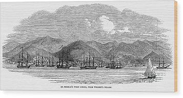 St. Thomas, 1844 Wood Print by Granger