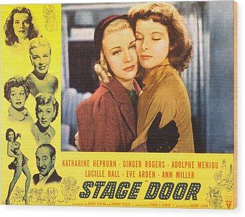 Stage Door, Ginger Rogers, Katharine Wood Print by Everett