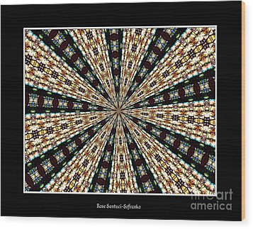 Stained Glass Kaleidoscope 39 Wood Print by Rose Santuci-Sofranko