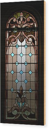 Stained Glass Lc 15 Wood Print by Thomas Woolworth