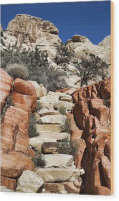 Staircase Stones Wood Print by Kelley King