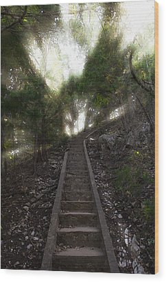 Stairway To Heaven Wood Print by Ricky Barnard
