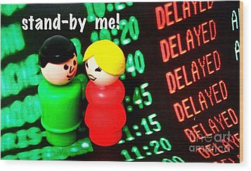 Stand By Me Wood Print by Ricky Sencion