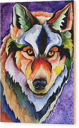 Stare Down Wood Print by Sherry Shipley