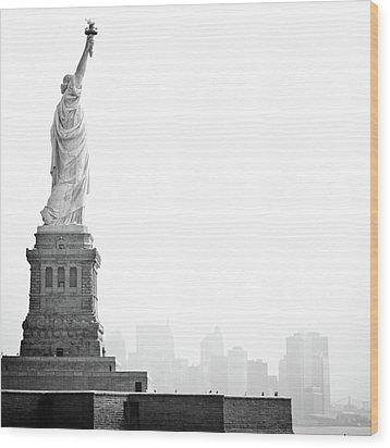 Statue Of Liberty Wood Print by Image - Natasha Maiolo