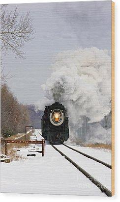 Steamtown Excursion Train Wood Print by Michael P Gadomski and Photo Researchers