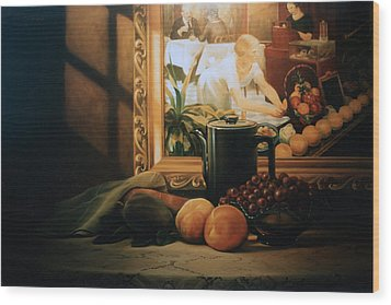 Still Life With Hopper Wood Print by Patrick Anthony Pierson