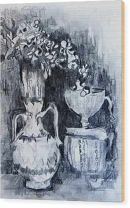 Still Life With Vases Wood Print by Jolante Hesse
