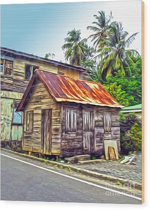 Stlucia - Rusted Shack Wood Print by Gregory Dyer