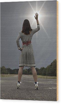 Stop The Sun Wood Print by Joana Kruse