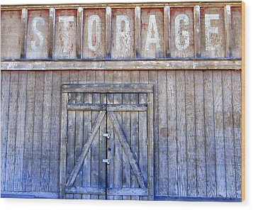 Storage - Architectural Photography Wood Print by Karyn Robinson