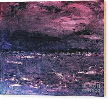 Storm Of Storms Coming Wood Print by Marsha Heiken