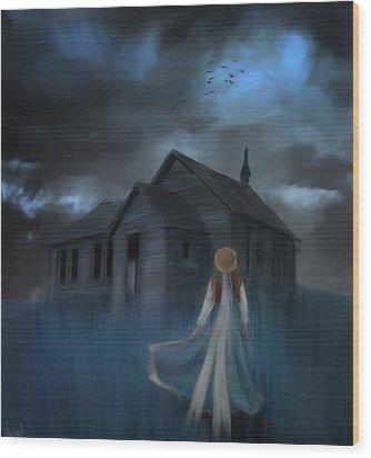 Strange Dream Wood Print by Hazel Billingsley