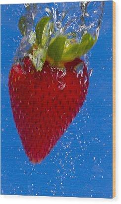 Strawberry Soda Dunk 7 Wood Print by John Brueske