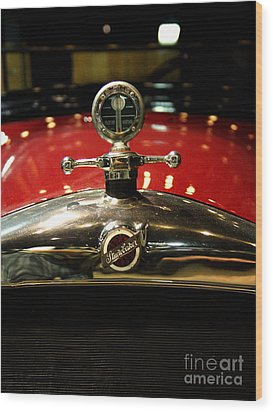 Studebaker Hood Ornament Wood Print by Wingsdomain Art and Photography
