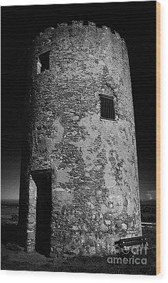 Stump Remains Of Portaferry Windmill On Windmill Hill Portaferry Ards Peninsula County Down  Wood Print by Joe Fox