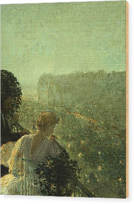 Summer Evening In Paris Wood Print by Childe Hassam
