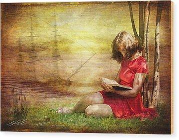 Summer Reading Wood Print by Svetlana Sewell