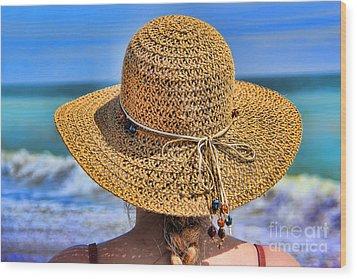 Summertime Wood Print by Mariola Bitner
