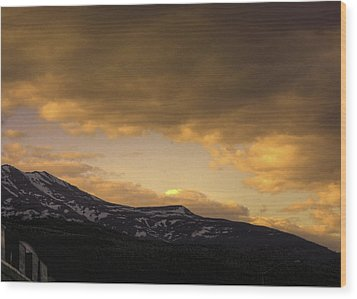 Sun Set Eagle River Wood Print by Grover Woessner