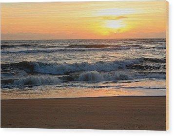 Sunburst Wood Print by Laurinda Bowling