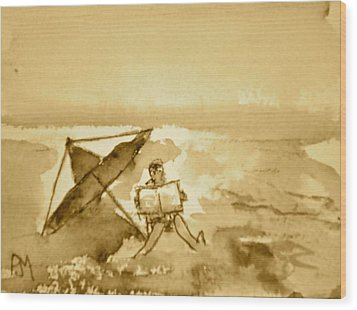 Sunday Mornin Sepia Wood Print by Pete Maier