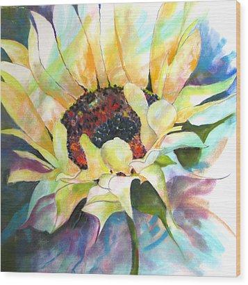Sunflower IIi Wood Print by Vicki Brevell