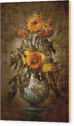 Sunflowers Wood Print by Marc Huebner