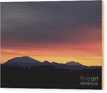 Sunrise 3 Wood Print by Chalet Roome-Rigdon