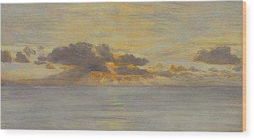 Sunset Wood Print by John Brett