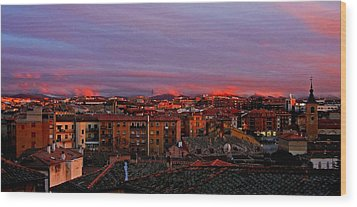 Sunset Over Segovia ... Wood Print by Juergen Weiss