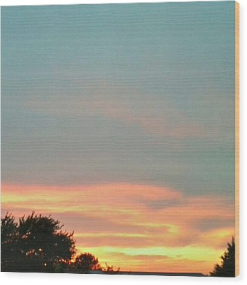 #sunset Redux #instadroid #andrography Wood Print by Kel Hill