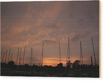 Sunset Sky Annapolis Wood Print by Valia Bradshaw