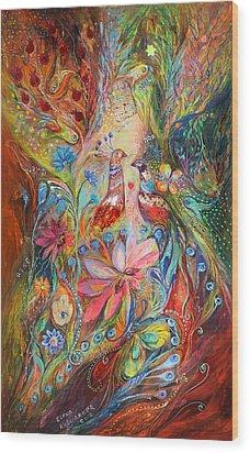 Supremacy Of Red Wood Print by Elena Kotliarker