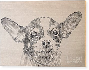 Sweet Chi Wood Print by Robbi  Musser