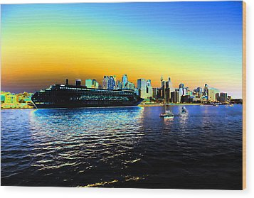 Sydney In Color Wood Print by Douglas Barnard