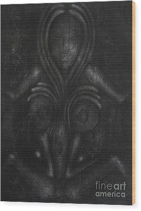 Symbol Wood Print by Darko Mitrevski