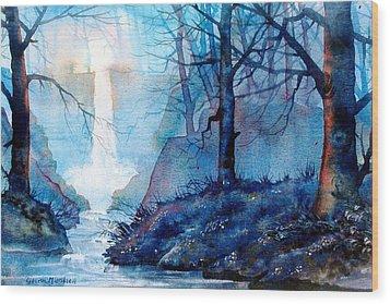 Syvan Spout Wood Print by Glenn Marshall