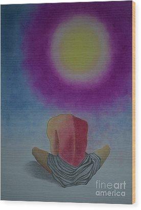 Talking With Sun Wood Print by Jalal Gilani