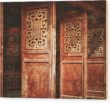 Temple Door Wood Print by Skip Nall