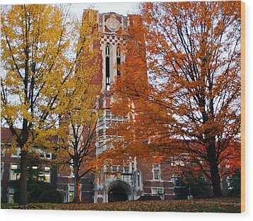 Tennessee Ayers Hall Wood Print by University of Tennessee Athletics