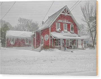 The 1856 Country Store On Main Street In Centerville On Cape Cod Wood Print by Matt Suess