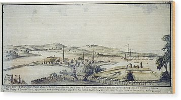 The American Revolution, View Wood Print by Everett